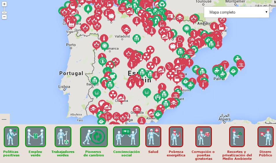 mapa greenpeace